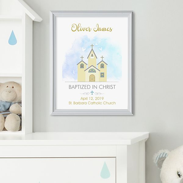 Little Chapel Baptism Framed Print
