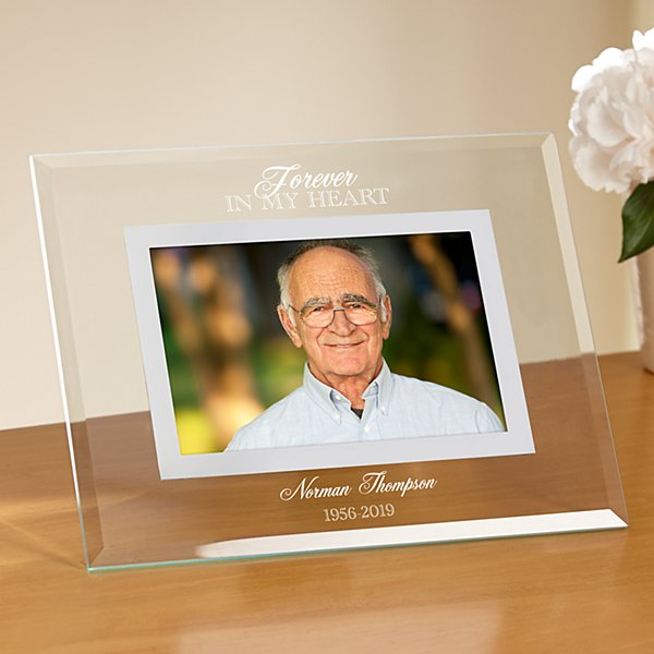 Memorial Etched Glass Frame