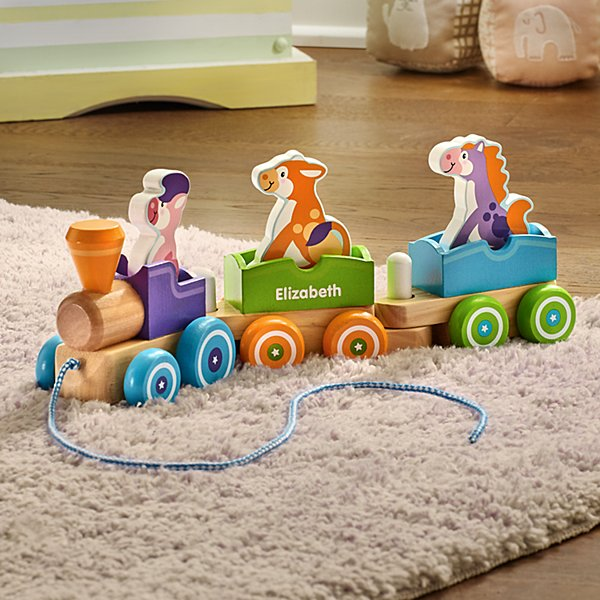 Melissa & Doug® Rocking Farm Wooden Pull Train