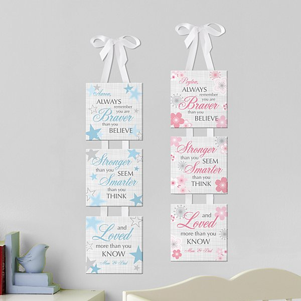 So Brave 3pc Hanging Canvas