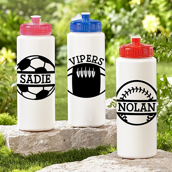 Sporty Fun 32oz Water Bottle