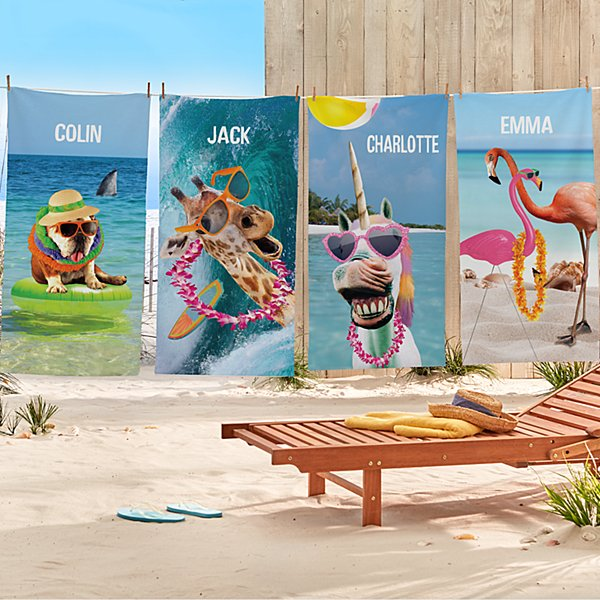 Animal With An Attitude Beach Towel