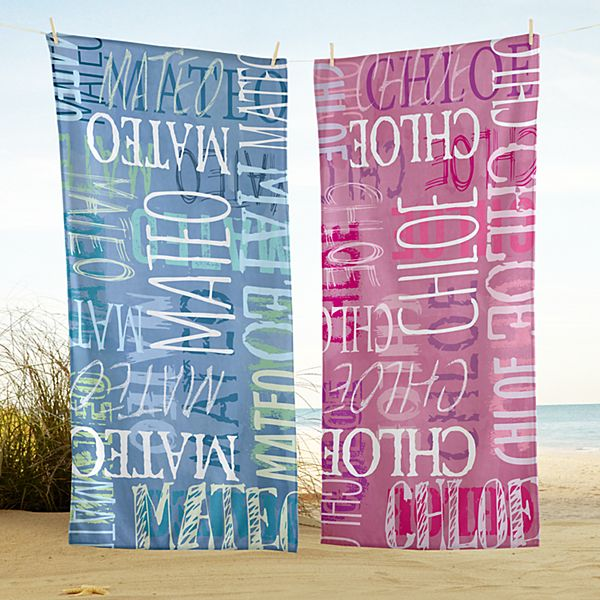 Graffiti Name Beach Towel