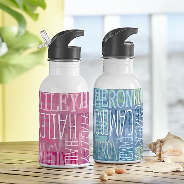 Graffiti Name Water Bottle