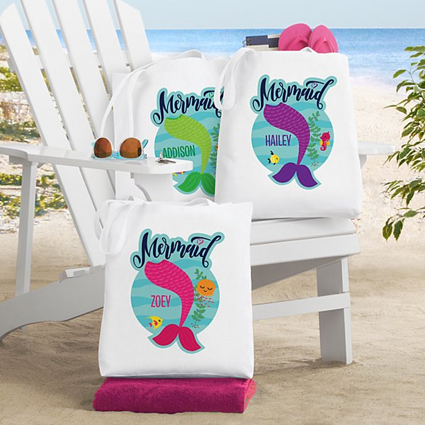 Just A Mermaid Tote Bag