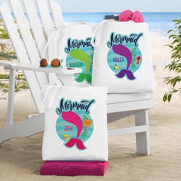 Just A Mermaid Tote Bag