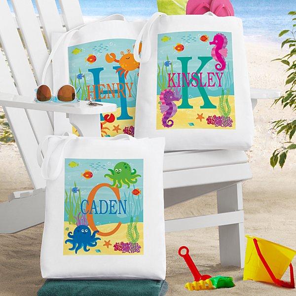 My Own Beachy Name Tote Bag