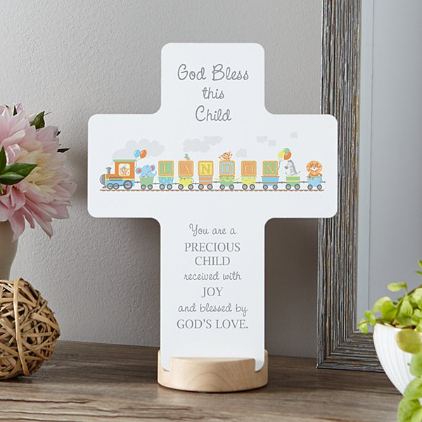 Name Train Keepsake Cross