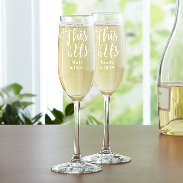 This is Us Wedding Flutes