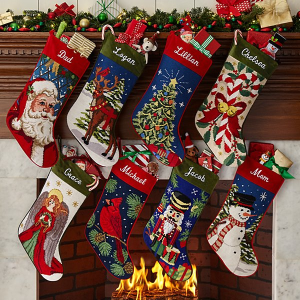 Needlepoint Personalized Stocking
