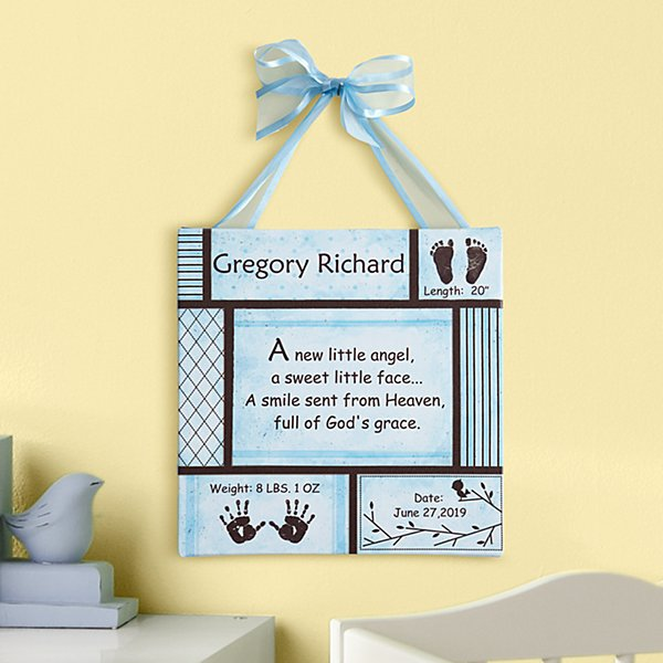 Baby Information Art Canvas