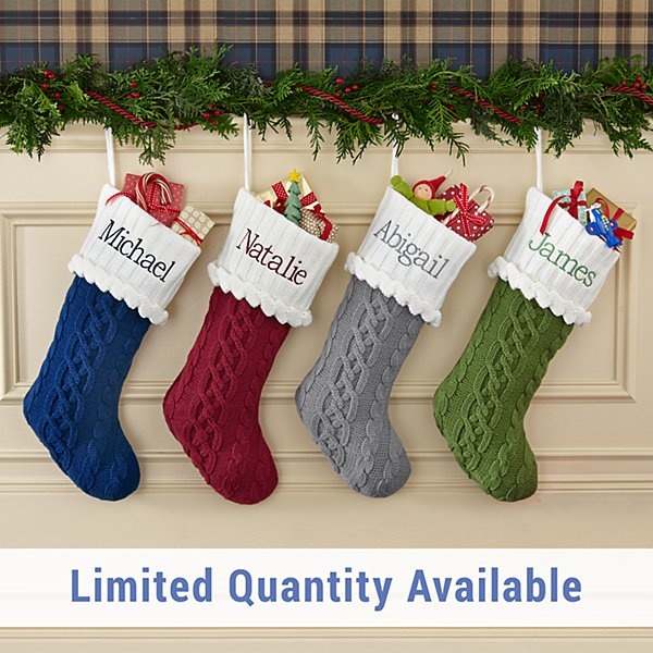 Cozy Cable Knit Personalized Stocking