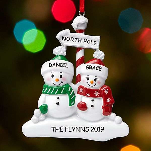 North Pole Family Couple Ornament