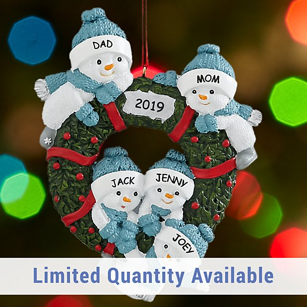 Snow Buddies Family Wreath Ornament
