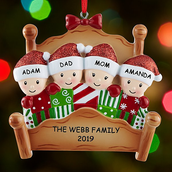 Cozy Christmas Family Ornament