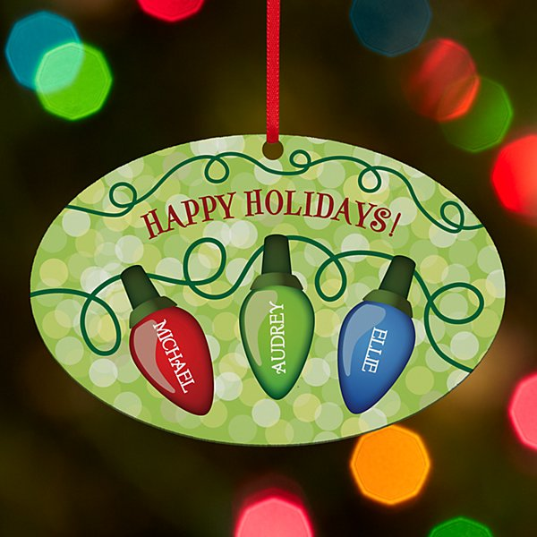 Family Lights Oval Ornament