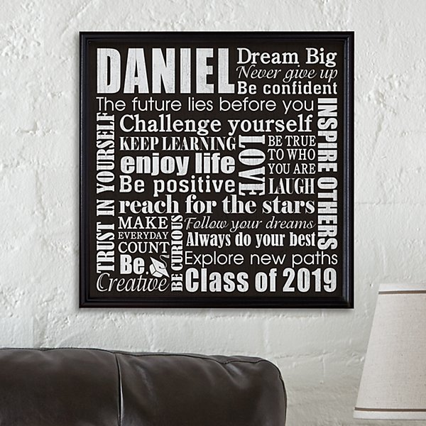 Dream Big Graduation Canvas
