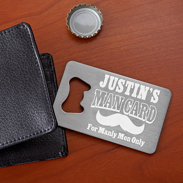 Man Card Wallet Bottle Opener
