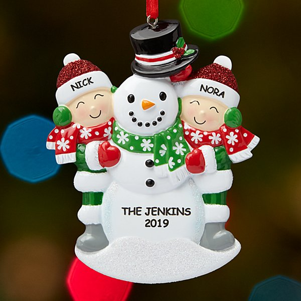 Building a Snowman Family Ornament - 2