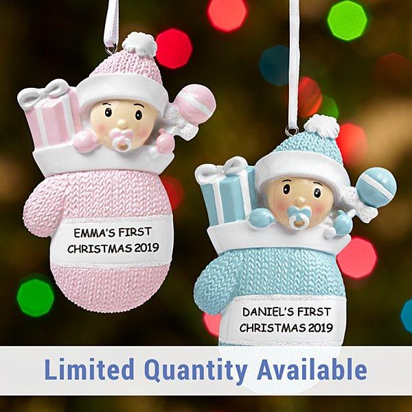 Baby Mitten Ornament