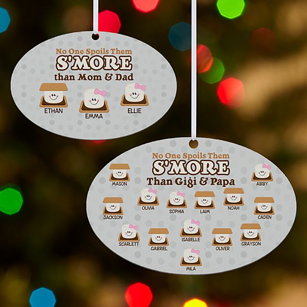 No One Spoils Them S'more Oval Ornament