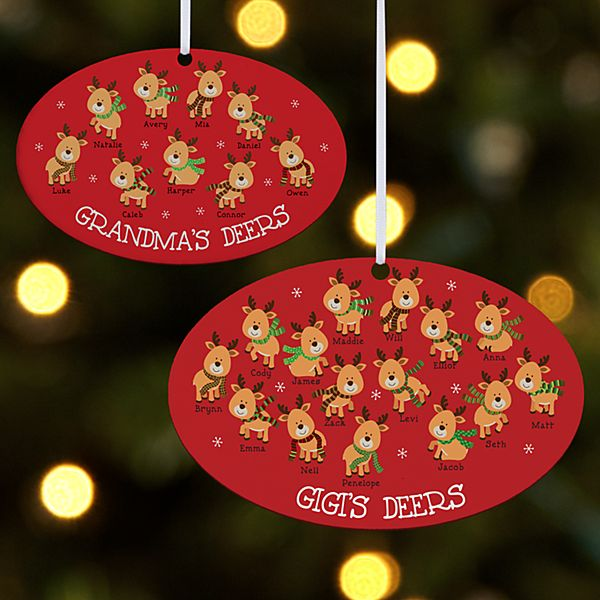Little Deers Oval Ornament