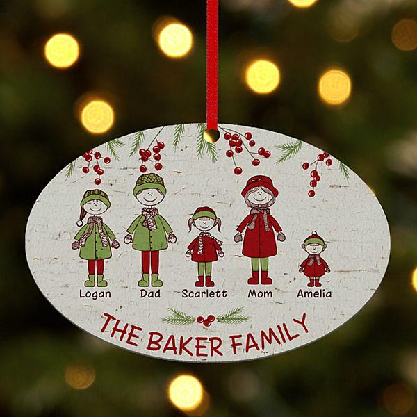 Cozy Family Oval Ornament