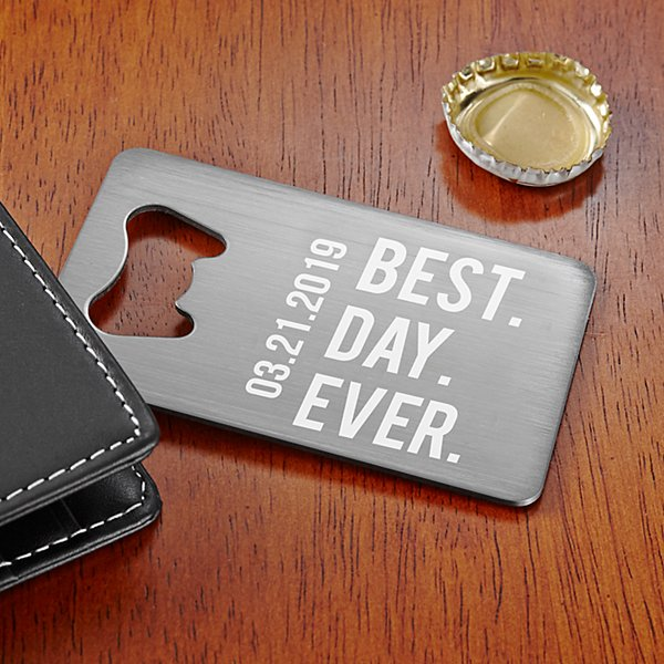 Our Best Day Wallet Bottle Opener