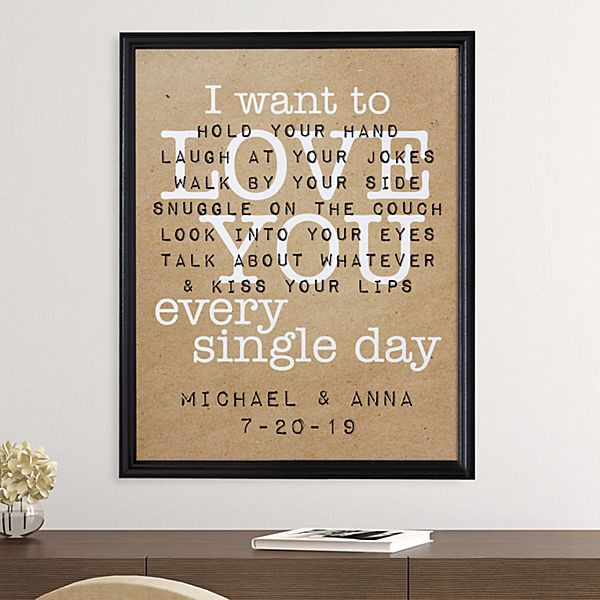 Love You Every Single Day Canvas