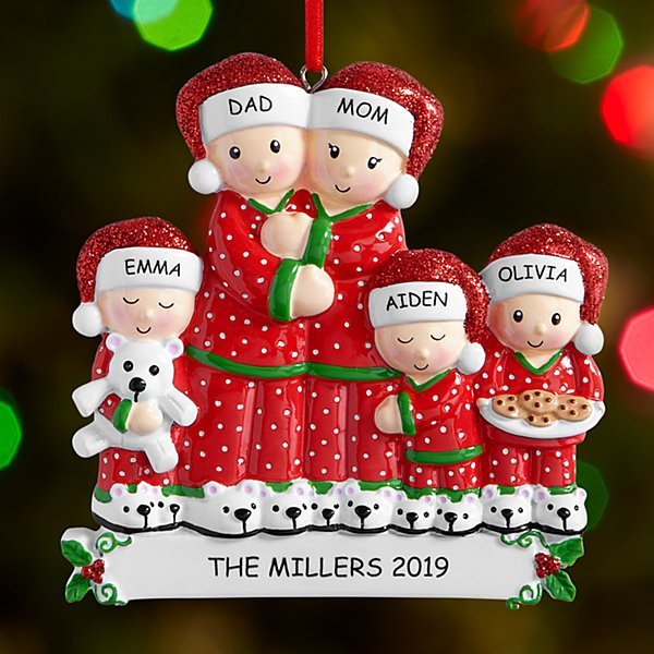 Pajama Family Ornament