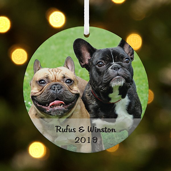 Pets Photo Message Round Ornament
