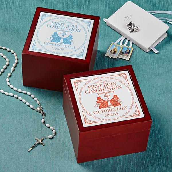 Communion Memories Tile Keepsake Box