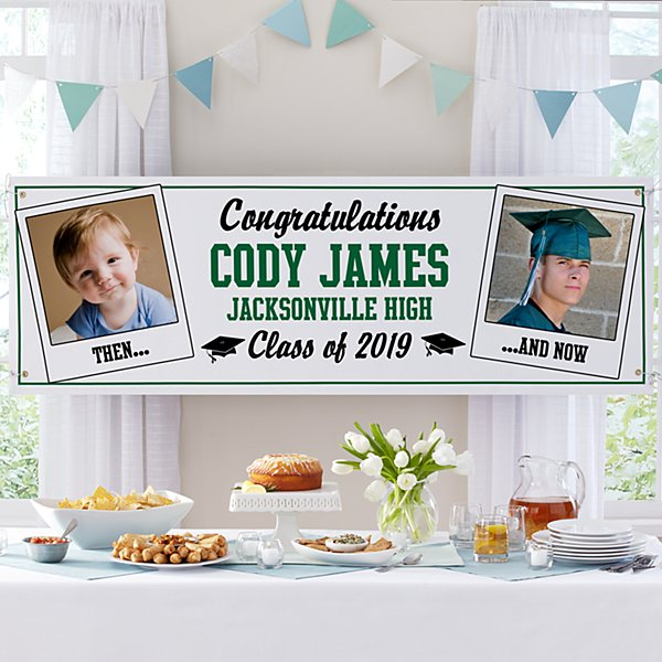 How Time Flies Graduation Photo Banner