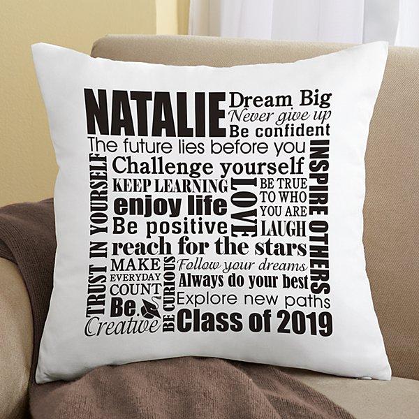 Dream Big Graduation Pillow