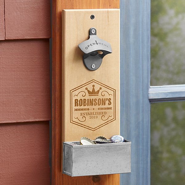 Crown Brew Pub Wall Bottle Opener