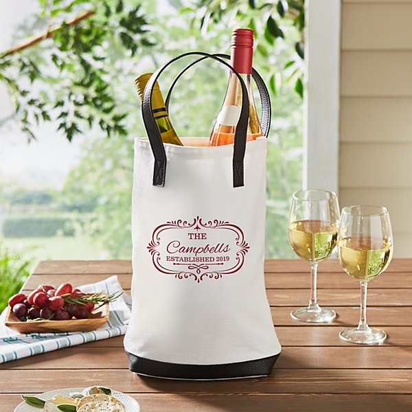 Family Name Two Bottle Wine Tote