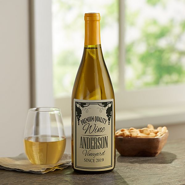 Family Vineyard Custom Wine Labels (Set of 4)