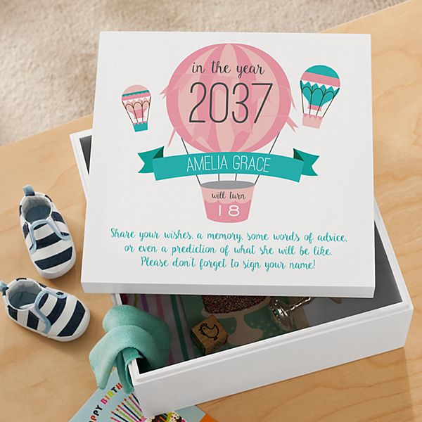 New Baby Time Capsule Keepsake Box