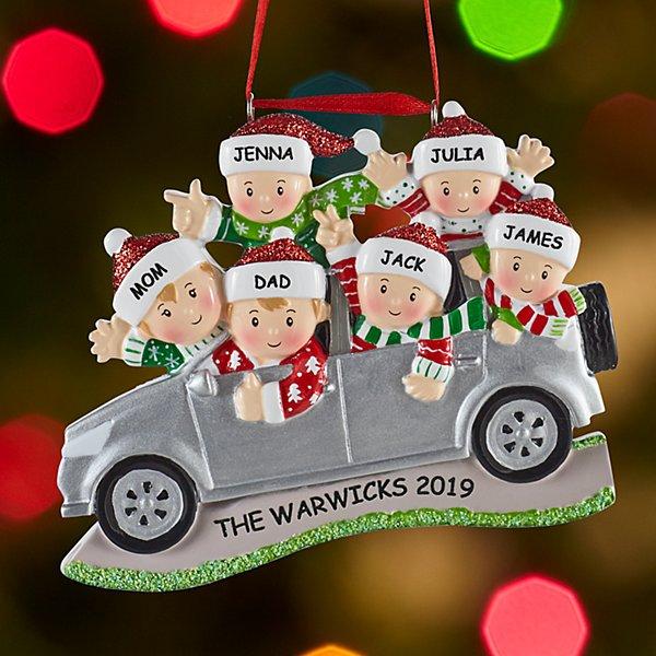 SUV Family Ornament