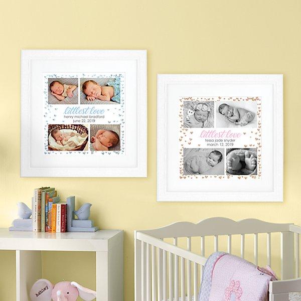 Littlest Love Photo Square Framed Print