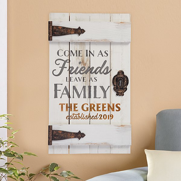 Friends & Family Wooden Door