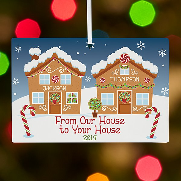 Holiday Greetings Rectangle Ornament