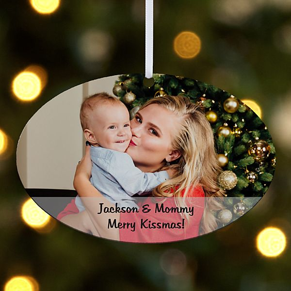 Picture Perfect Photo Message Oval Ornament