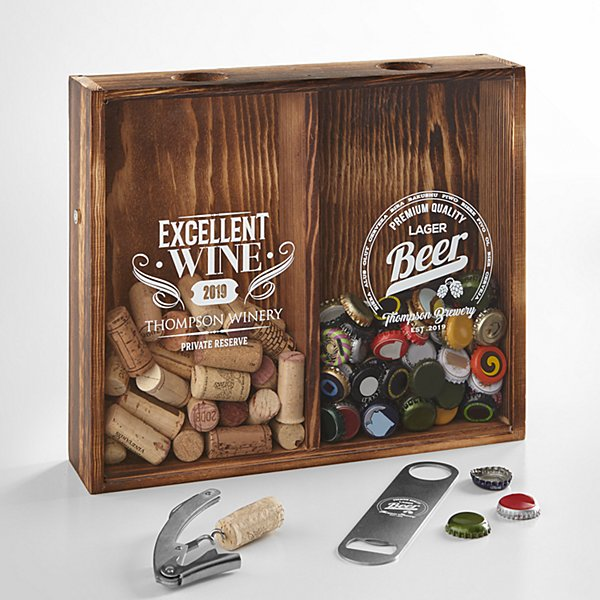 Beer & Wine Shadow Box