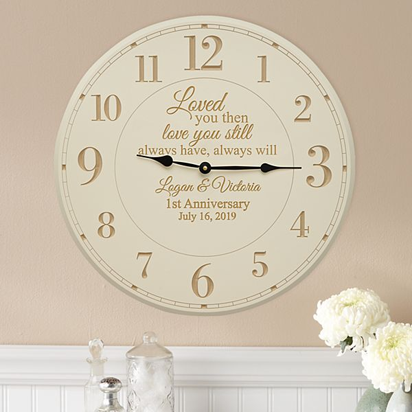 Love You Still Anniversary Wall Clock