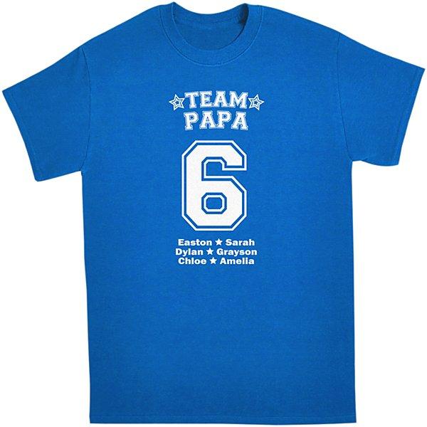 His Team T-shirt-Blue-L