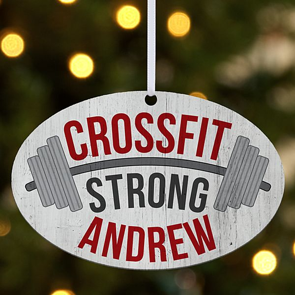 CrossFit Oval Ornament