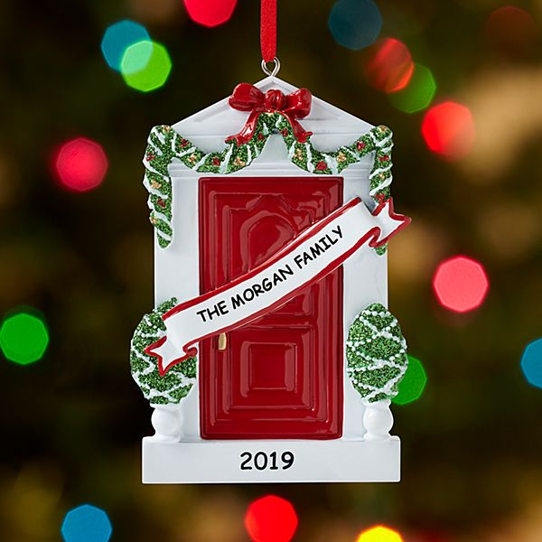 Decorated for Christmas Door Ornament