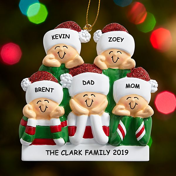 Holiday Greetings Family Ornament