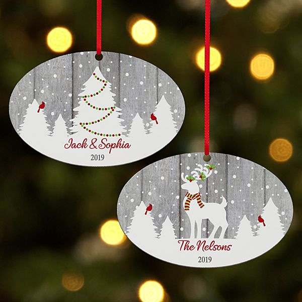 It's a White Christmas Oval Ornament
